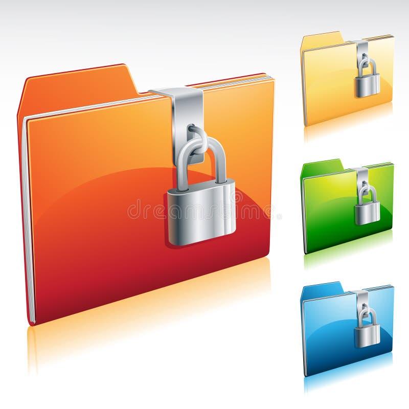 Lock Folder Icon Stock Photos