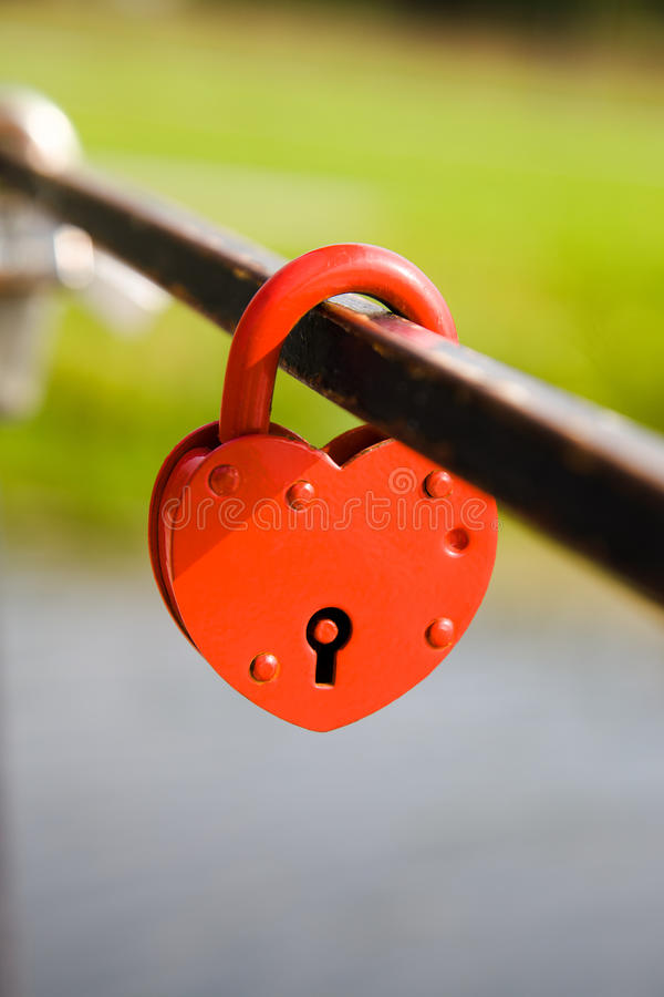 Download The Lock In The Form Of Heart Stock Photo - Image: 21781082