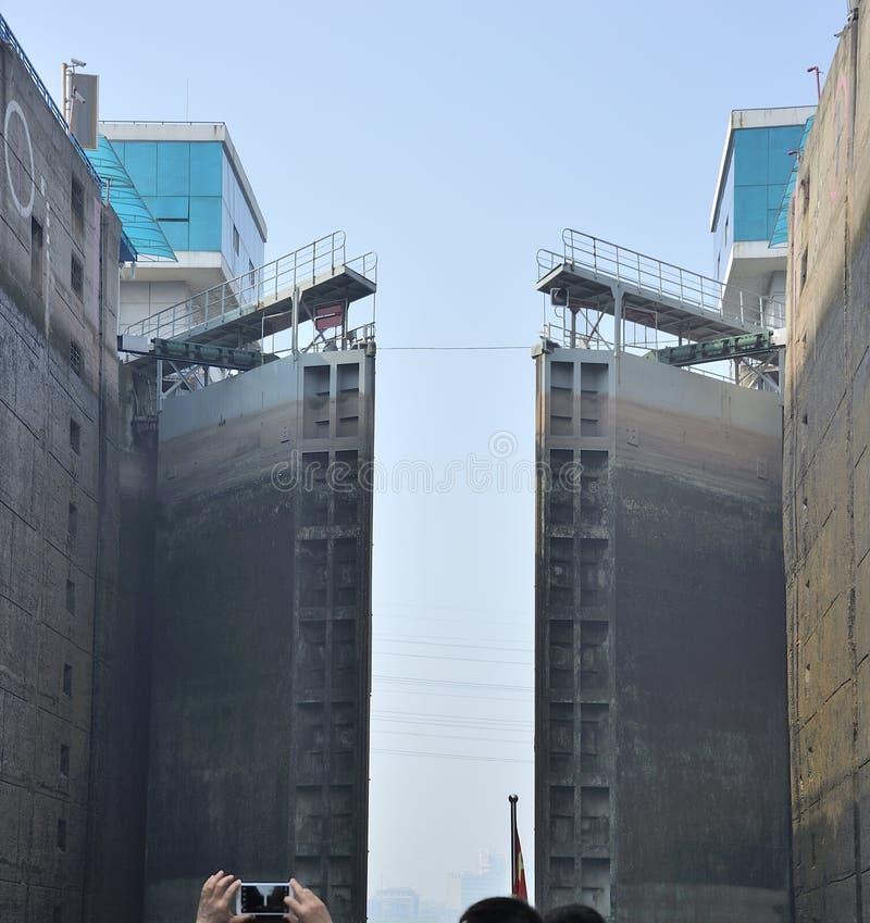 Download Lock Gezhou Dam in action stock image. Image of cruise - 30745397