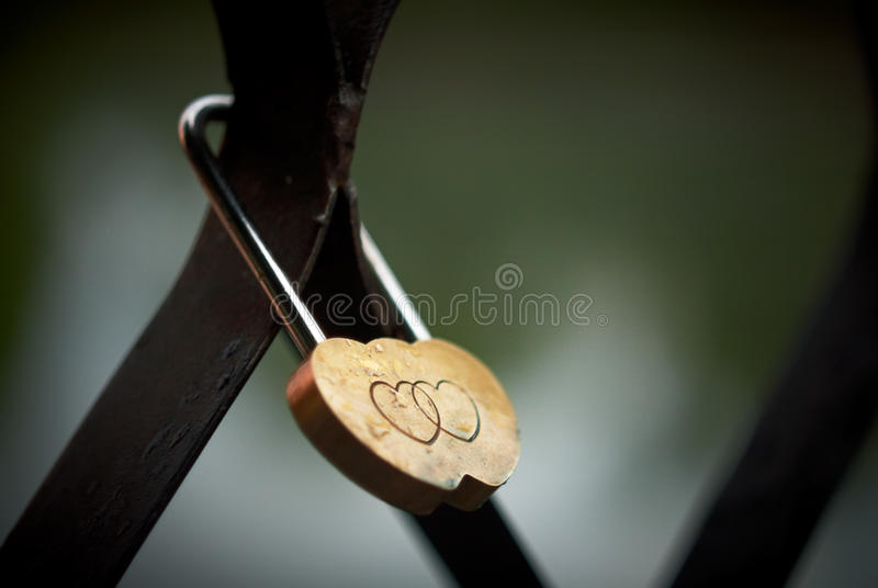 Lock with hearts. royalty free stock photos