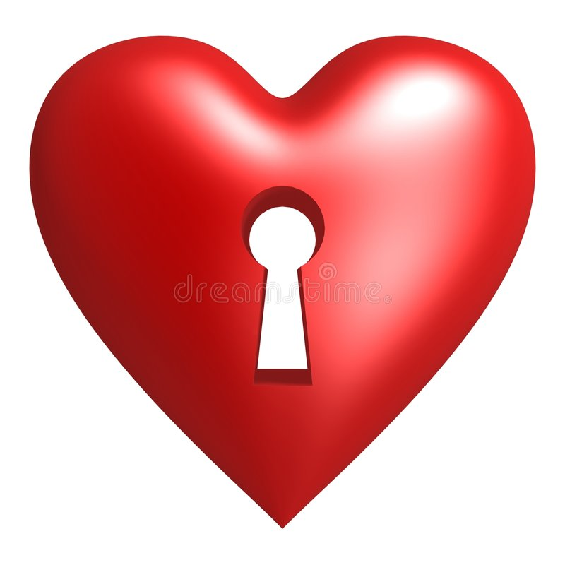 Download Lock hole on red heart stock illustration. Image of romantic - 6213851