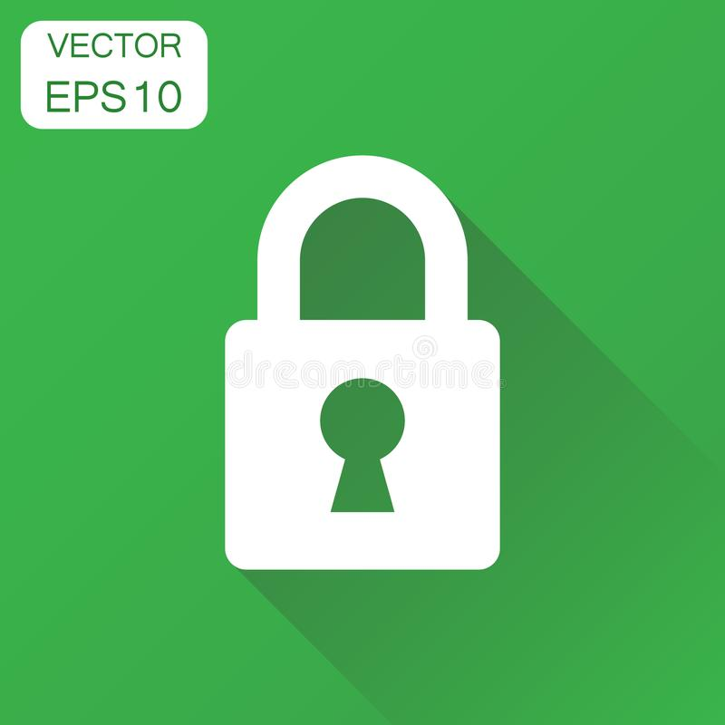 Lock icon. Business concept padlock locker pictogram. Vector ill vector illustration