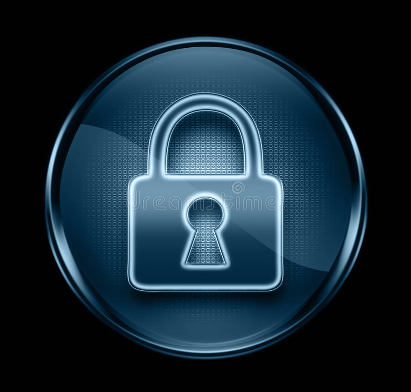 Lock icon dark blue. stock photos