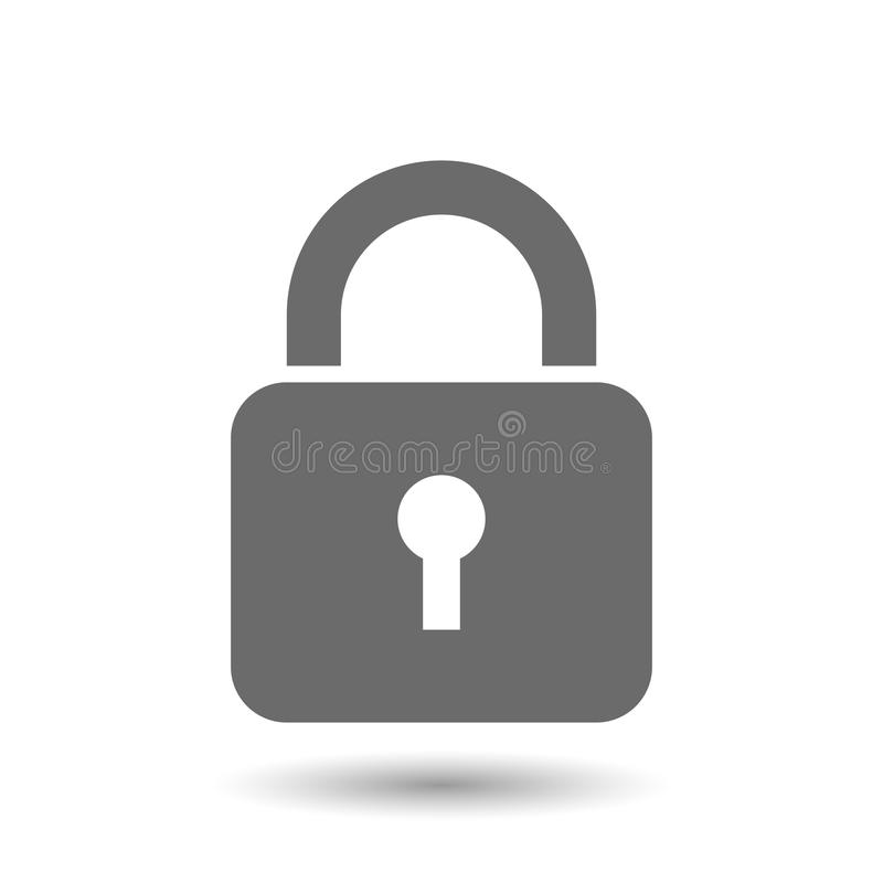 Lock icon. Isolated on white. Vector illustration
