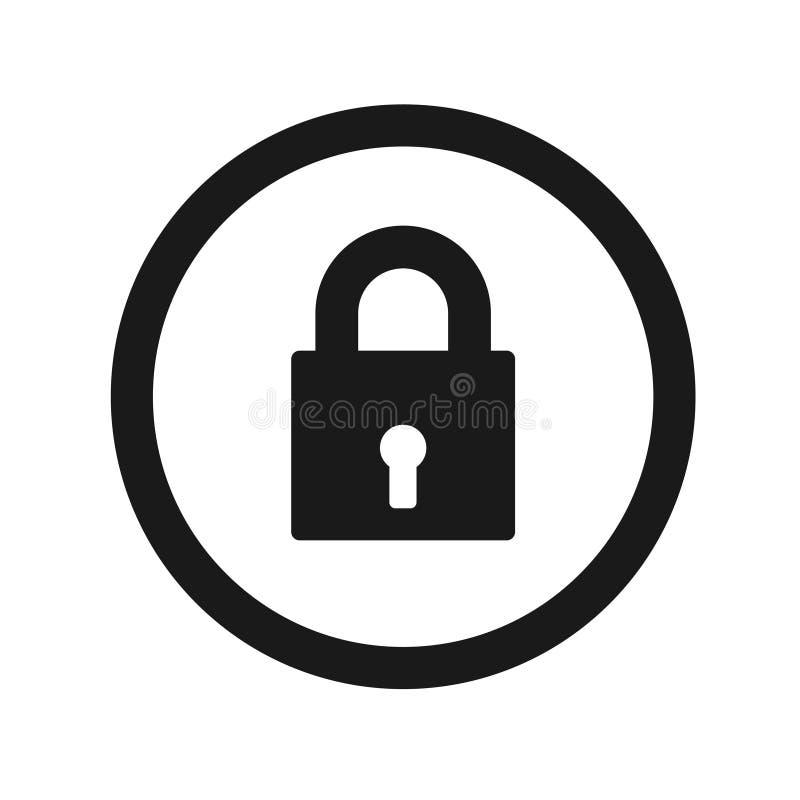 Lock icon stock illustration