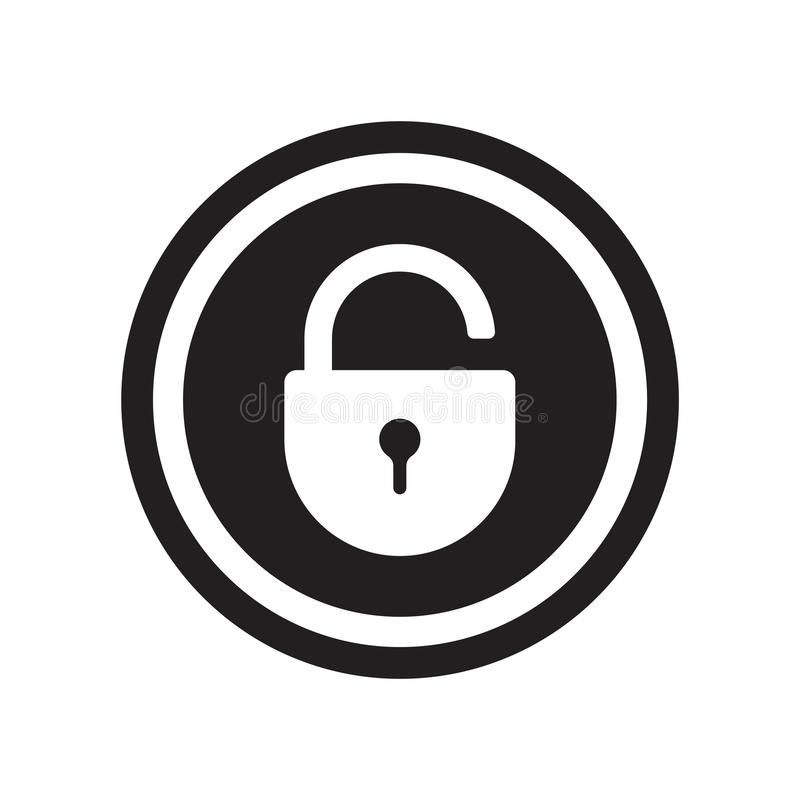 Lock icon vector isolated on white background, Lock sign stock illustration