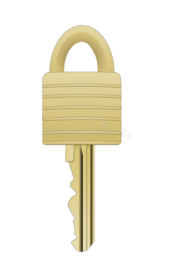 Lock and Key. An illustration of a lock and key royalty free illustration