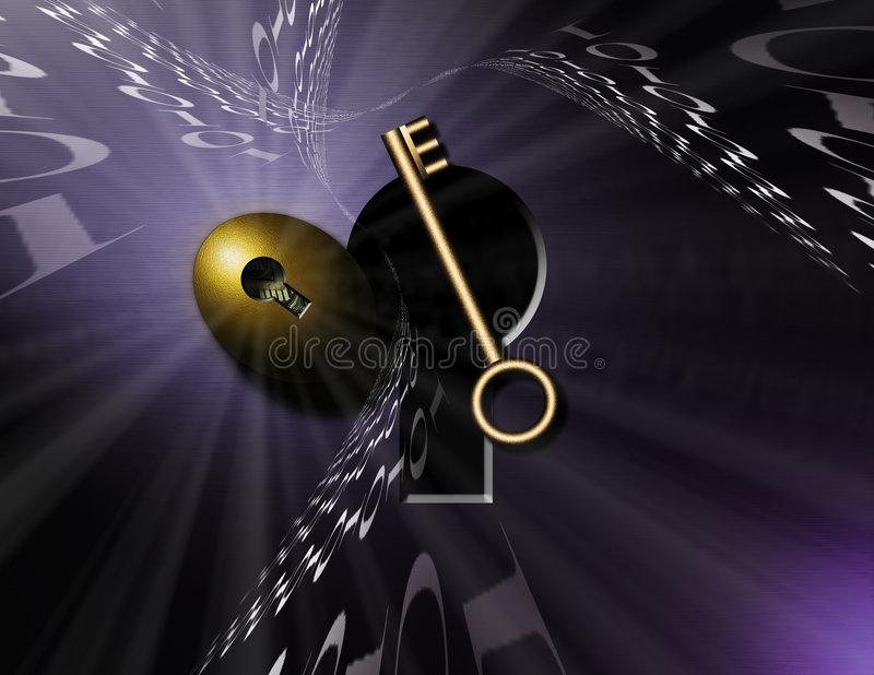 Download Lock and Key stock illustration. Image of dreamlike, hack - 1704412