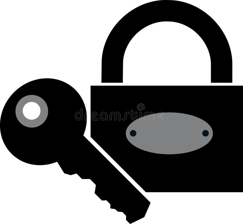 Download Lock and key stock vector. Image of elements, vector - 20900936