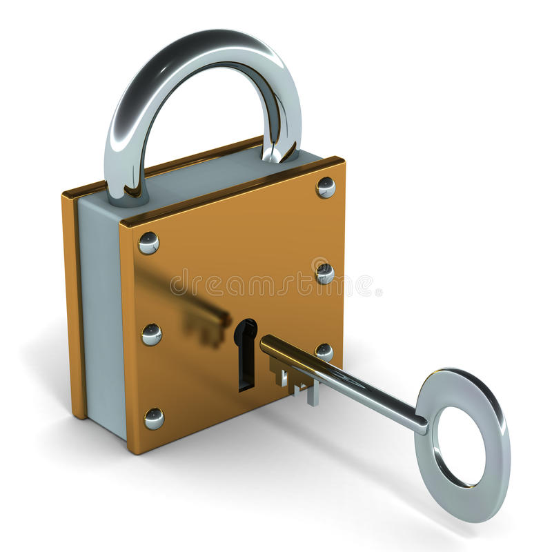 Lock and key vector illustration