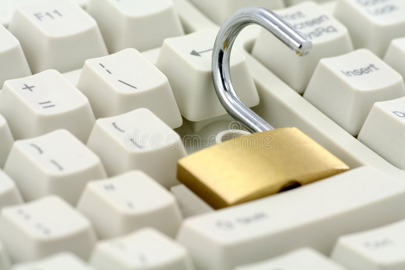 Lock and keyboard royalty free stock photography