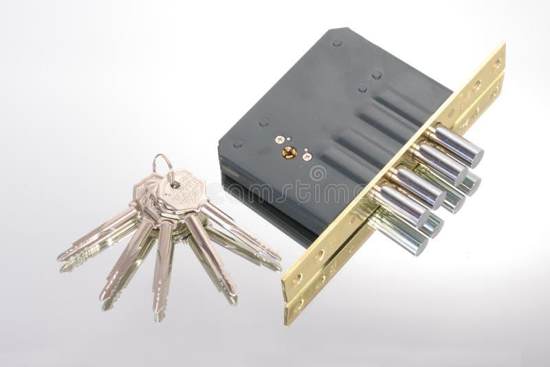 The lock with keys stock photo