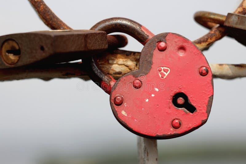 Lock of love. On the bridge stock photography