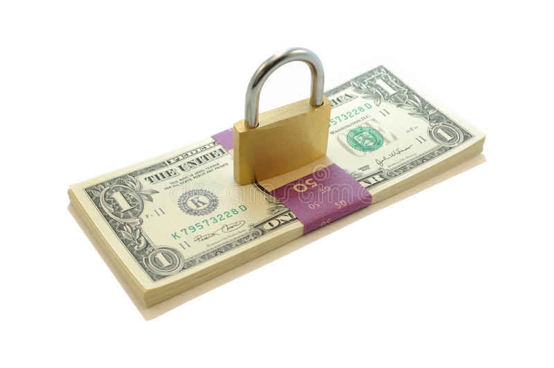 Lock on Money stock photos