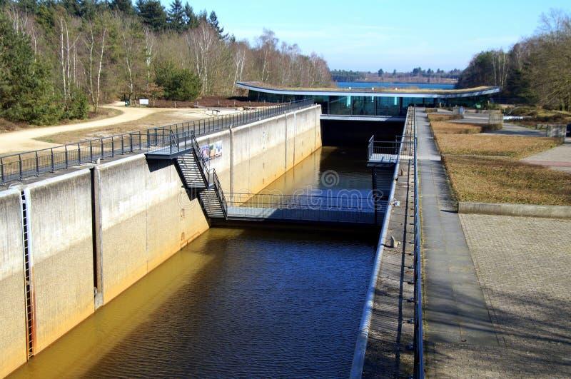 Lock at National Park Maasduinen, Limburg. stock photo