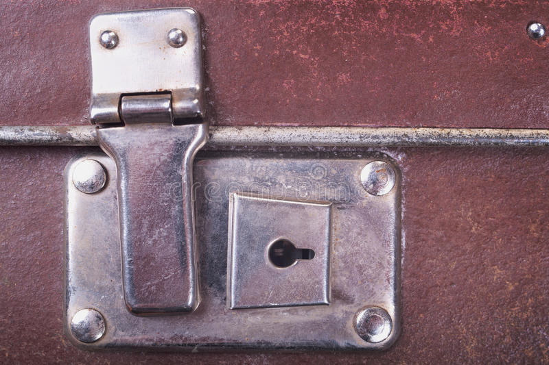 Download Lock of an old suitcase stock image. Image of baggage - 26415645