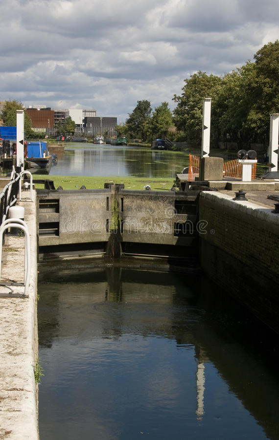 Free Lock On River Lea, East London Royalty Free Stock Images - 15933319