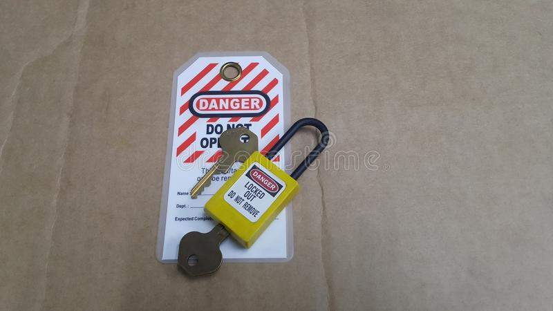 Lock out & Tag out , Lockout station,machine - specific lockout devices royalty free stock photos