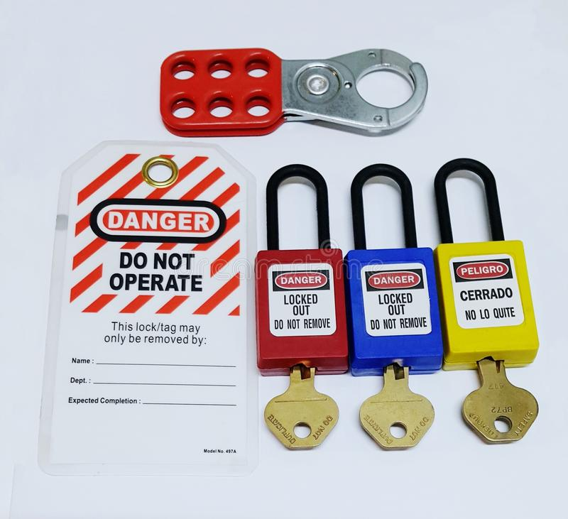 Lock out & Tag out , Lockout station,machine - specific lockout devices royalty free stock images