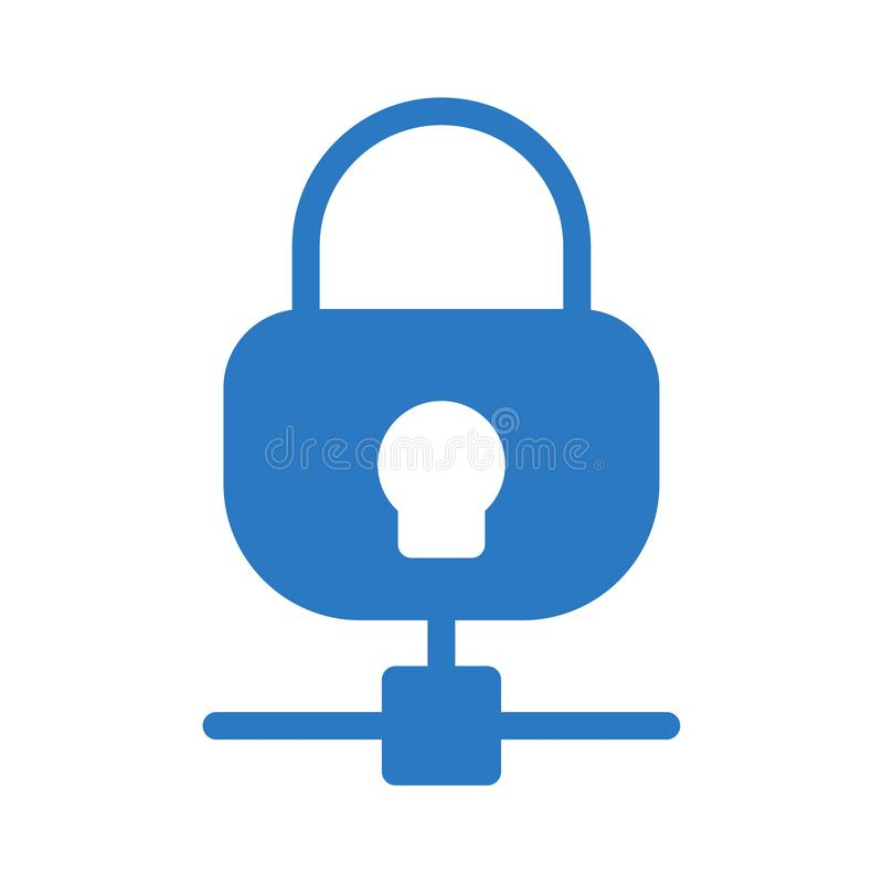 Lock sharing glyph flat vector icon. Lock sharing vector icon. Elements for mobile concept and web apps. Thin line icons for website design and development, app stock illustration