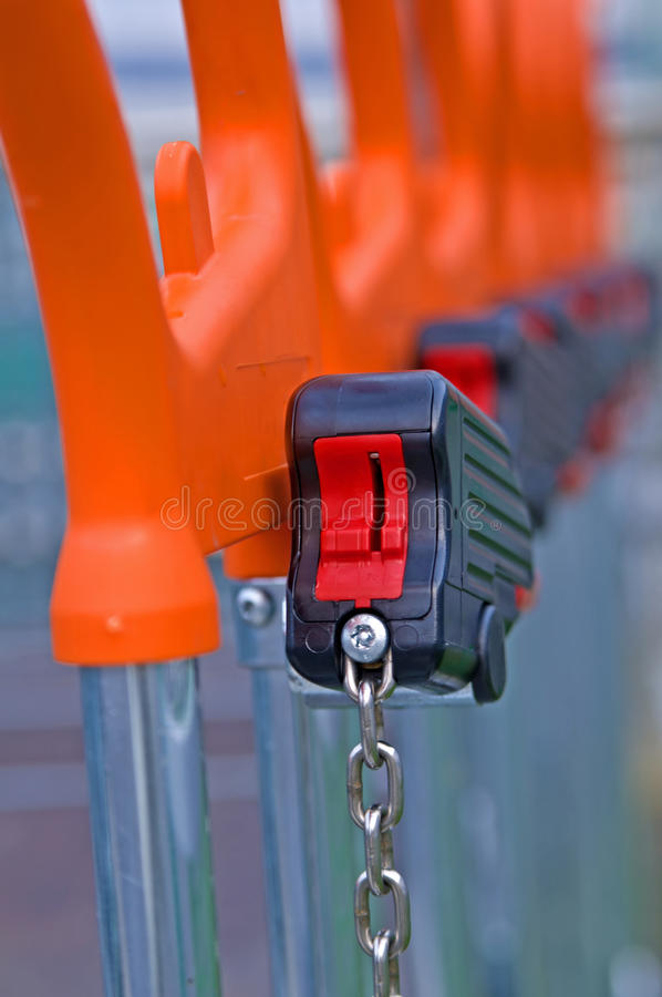 Lock Of Shopping Cart Stock Image