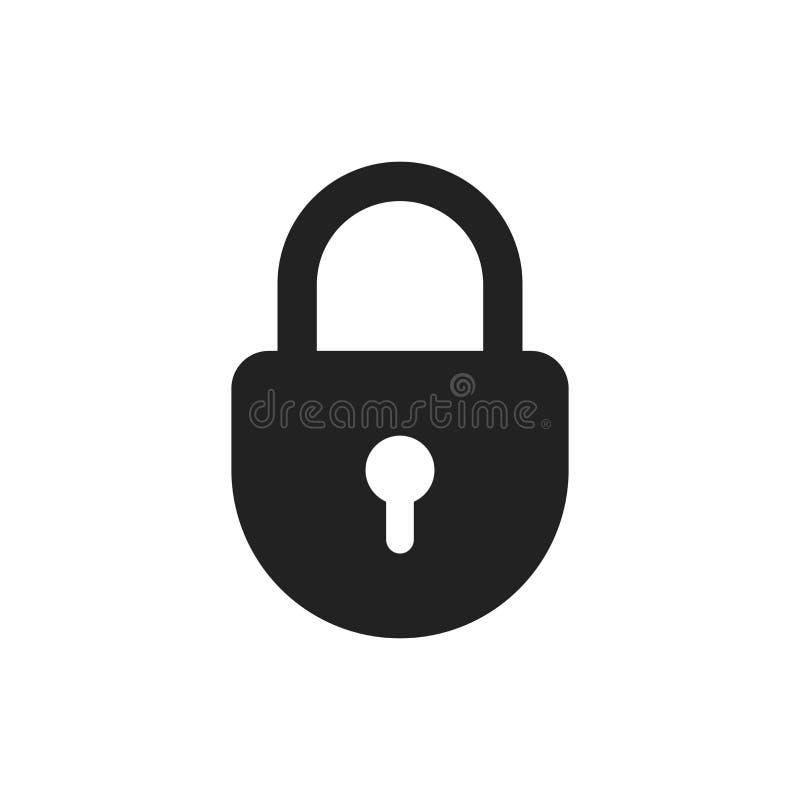 Lock sign vector icon. Padlock locker illustration. Business con royalty free illustration