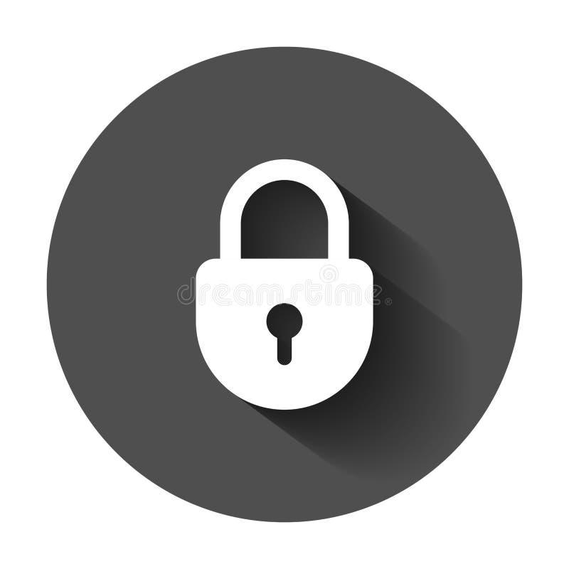 Lock sign vector icon. Padlock locker illustration. Business con stock illustration