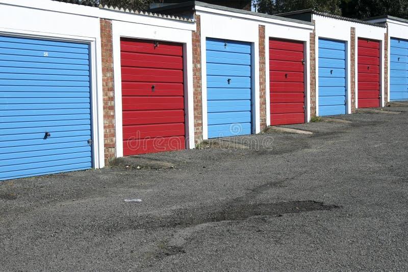 Lock up garages stock photo