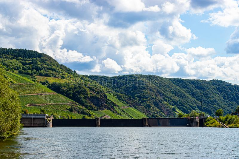 Lock Wintrich on the Mosel, Germany royalty free stock photos