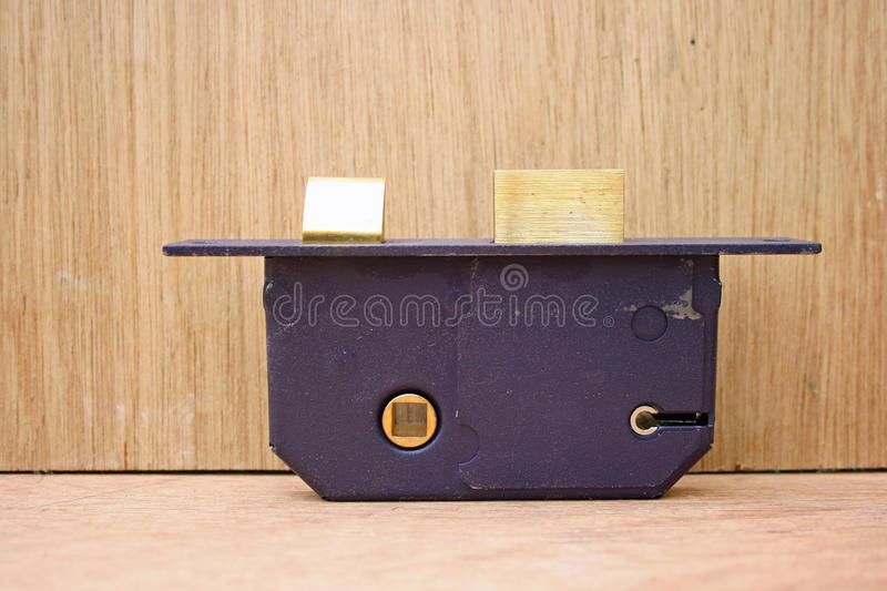 Download Lock On Workbench. Stock Photo - Image: 12857830