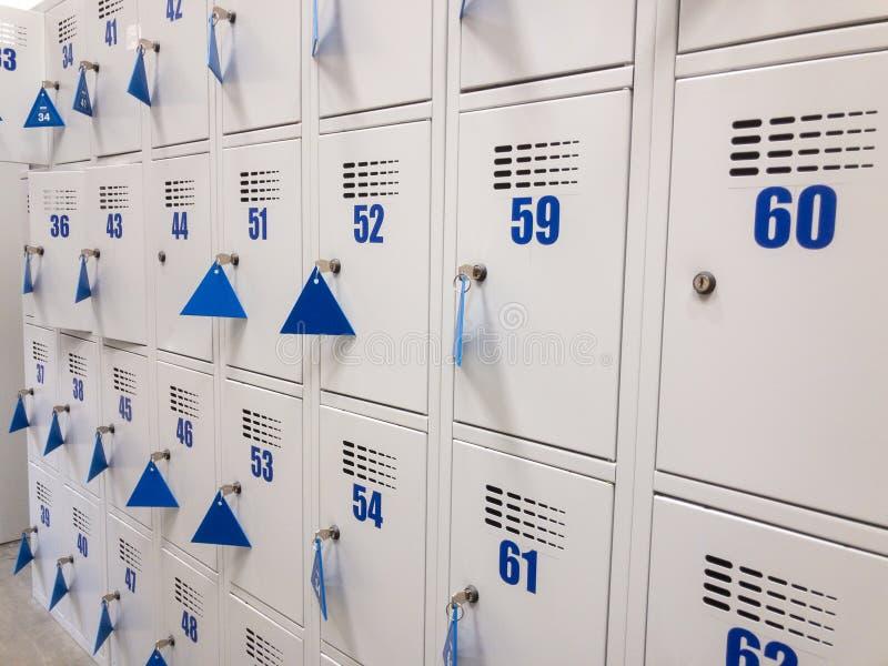 Lockable szafki przy szatnią obrazy royalty free