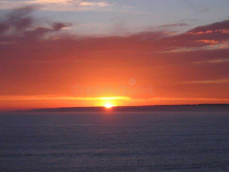 Lockande solnedgång på Philip Island fotografering för bildbyråer