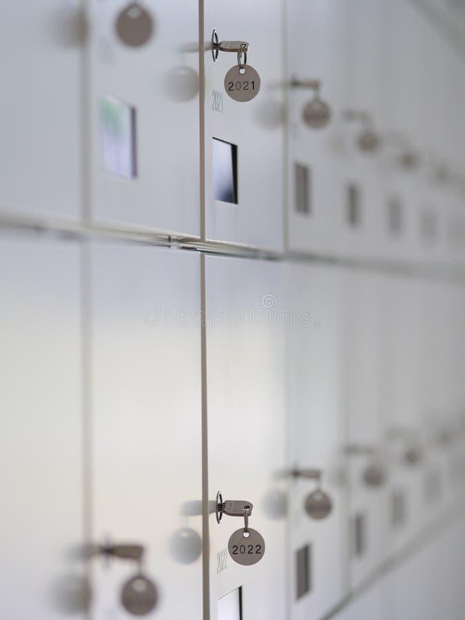 Lockboxes del deposito di sicurezza fotografia stock libera da diritti