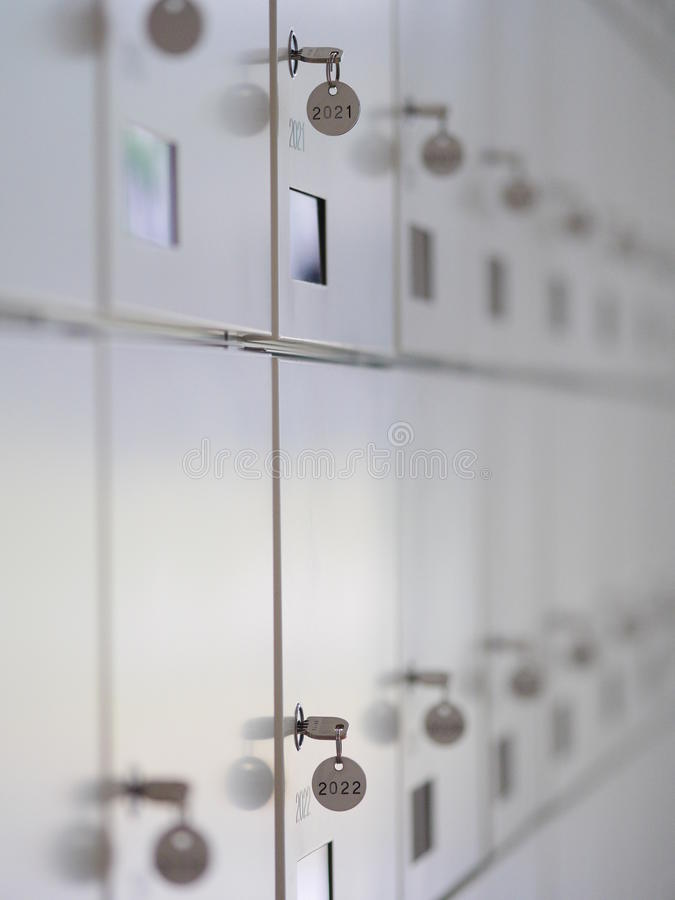 Lockboxes del deposito di sicurezza immagini stock