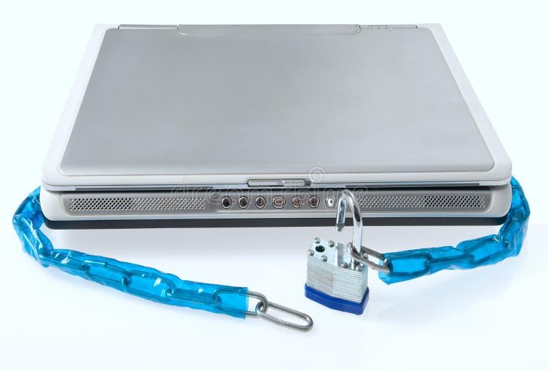Locked обеспеченность компьтер-книжки стоковое изображение