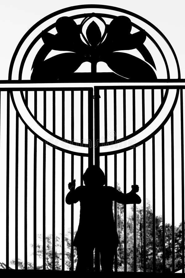 Download Locked In stock photo. Image of person, silhouette, barrier - 12345108