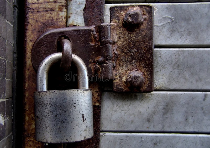 Download Locked stock image. Image of rust, stop, barrier, sealed - 24725