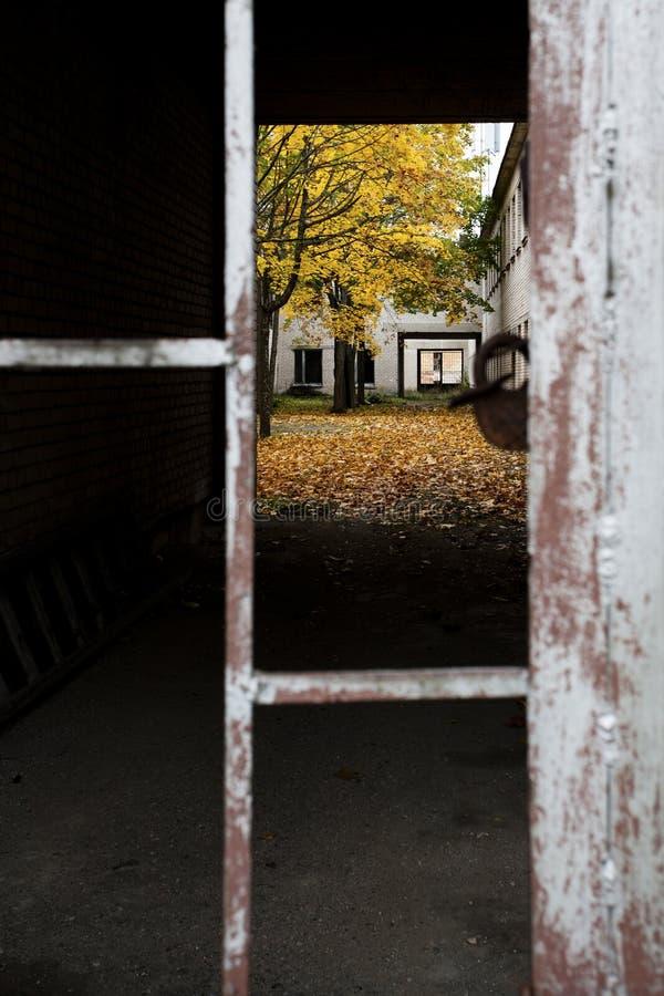 Locked autumn stock images