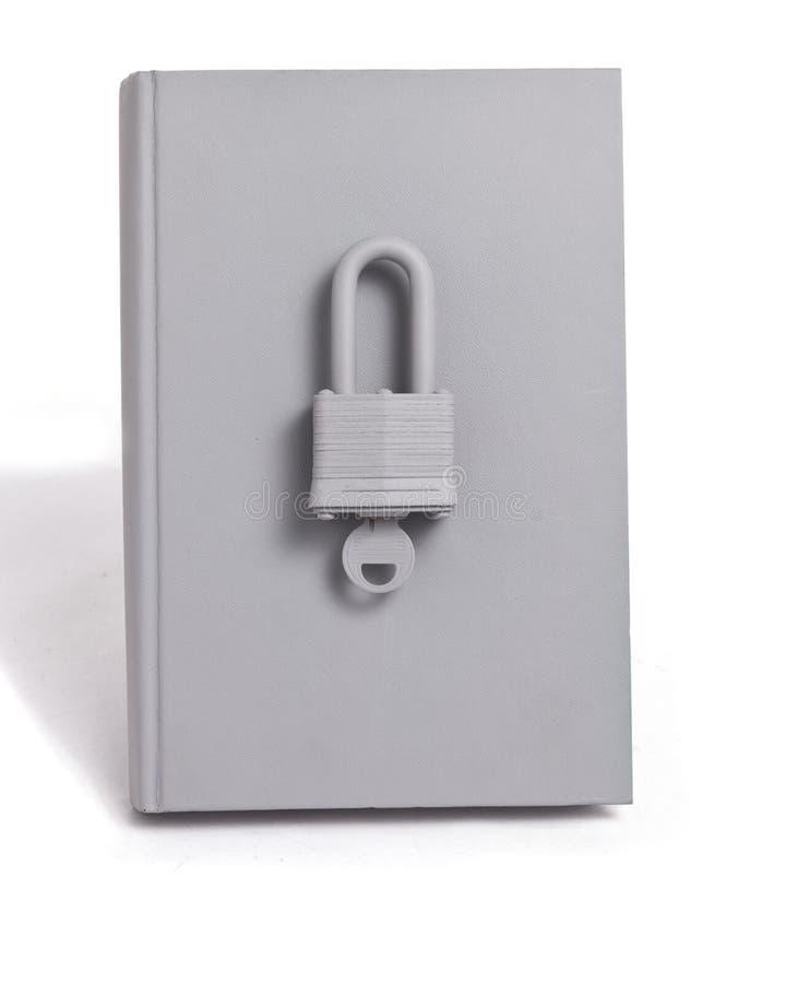 Locked Book stock image