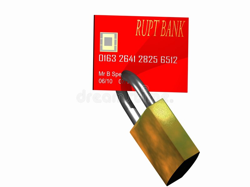 Locked Credit Card Stock Photos