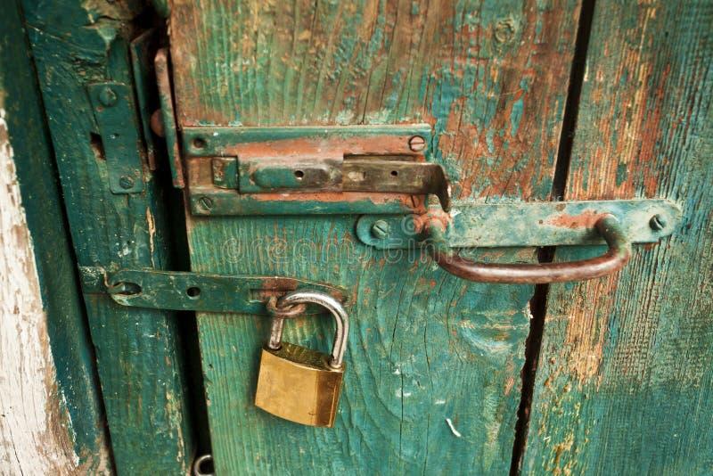 Locked door royalty free stock photography