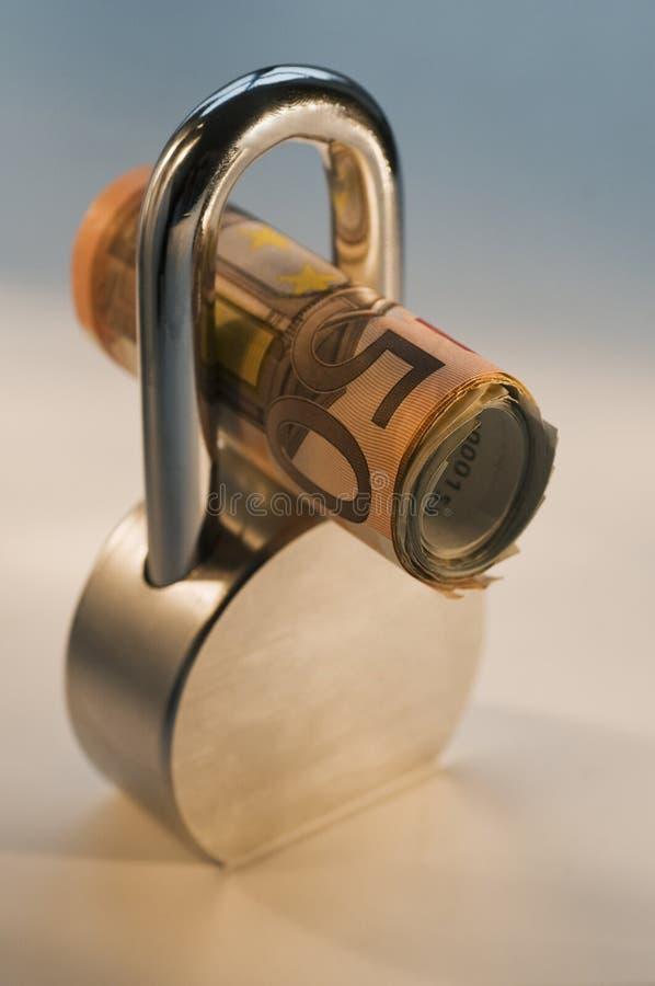 Locked Euros Royalty Free Stock Photography