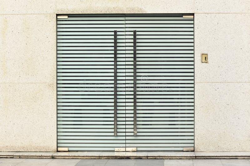 Download Locked glass door stock image. Image of outdoor, lock - 25807363