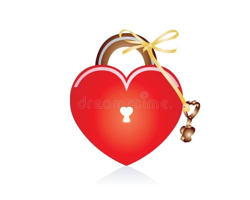 Locked Heart stock photography