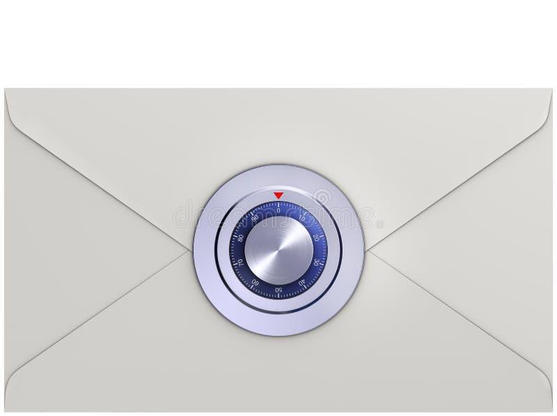 Locked letter vector illustration