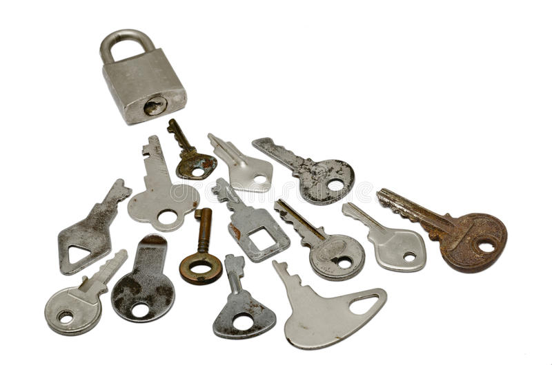 Locked With Many Wrong Keys Stock Images