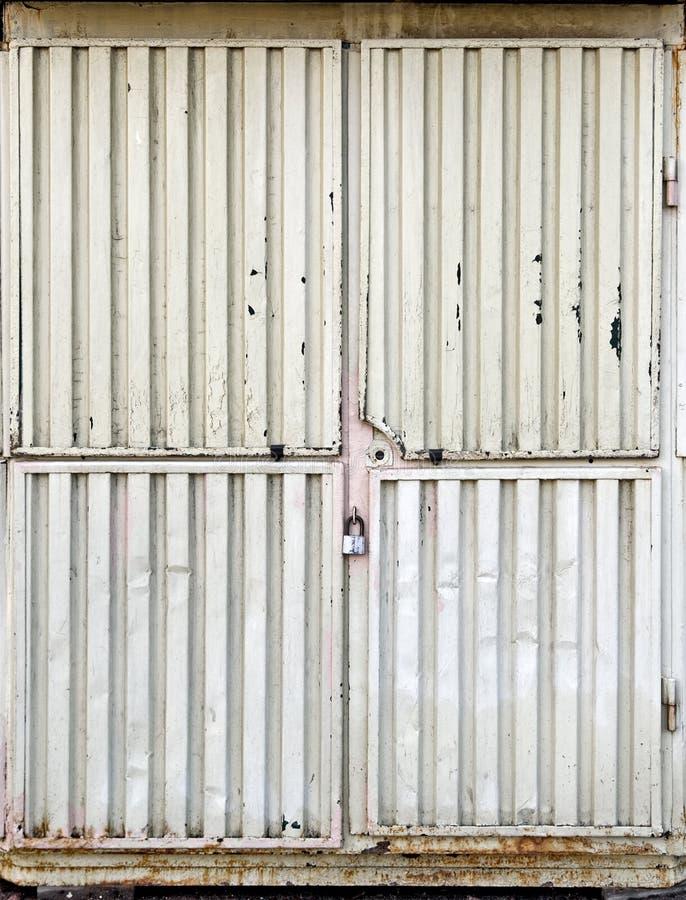 Locked metal gate stock photos