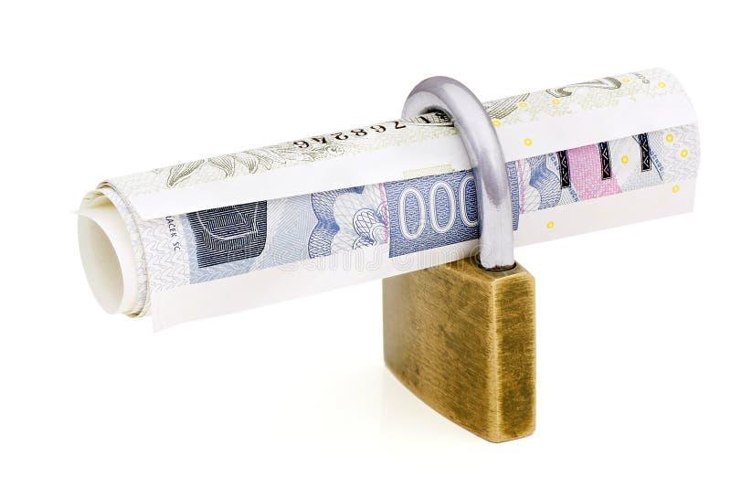 Locked money. stock photography