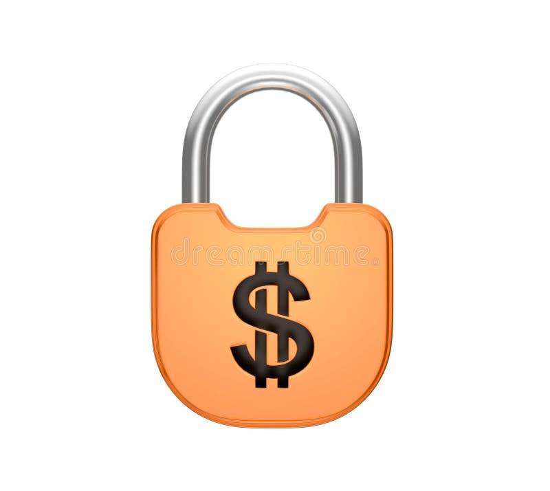 Download Locked Padlock US Dollar Currency Concept Stock Illustration - Image: 17330485