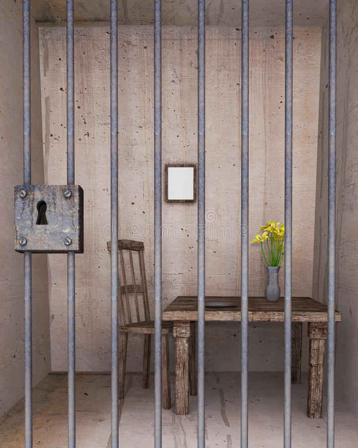 Free Locked Prison Cell Stock Image - 39826011